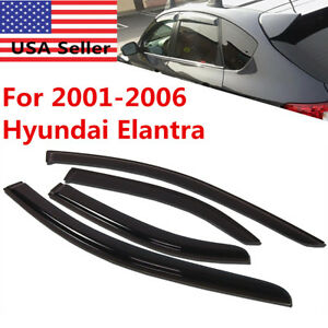 Window Side Vent Visor Guards For Hyundai Elantra 2001 2002 2003 2004 2005 2006