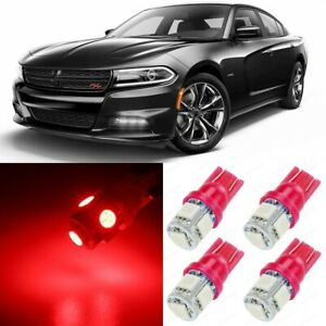 17 X Ultra Red Interior Led Lights Package For 2015 2019 Dodge Charger Tool