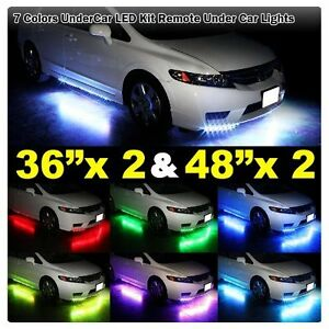 7 Color Led Strip Under Car Tube Underglow Underbody System Neon Lights Kit Oy