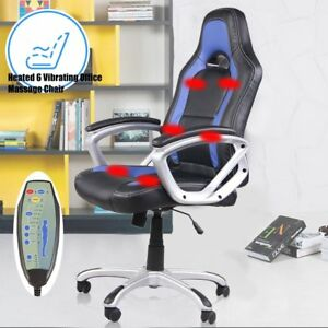 Home Office Computer Desk Massage Chair Executive Ergonomic Heated Vibrating 6 O