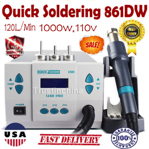 Quick Soldering 861dw 1 000w Digital Rework Station Free Shipping Hot Air 110v