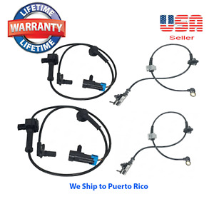 Set Of 4 Abs Wheel Speed Sensor Front rear right left Fit cadillac Chevrolet Gmc