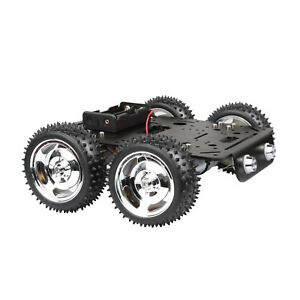 4wd Off road Robot Smart Car Chassis Kit Dc 9v Hall Speed Motor Aluminum Alloy