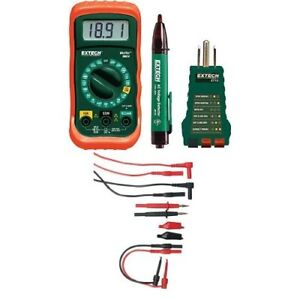 Extech Mn24 kit Electrical Test Kit With Tl809 Electronic Test Lead Kit