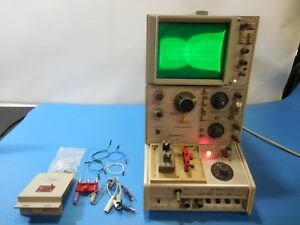 Tektronix 577 Curve Tracer With 177 Standard Test Fixture And Some Accessories
