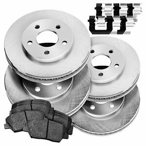 Fit 1998 2000 Kia Sephia spectra Front Rear Plain Brake Rotors ceramic Pads
