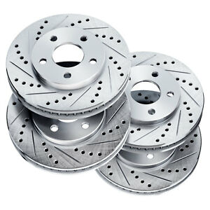 Fit 1993 Ford Mustang Front Rear Powersport Drill Slot Brake Rotors