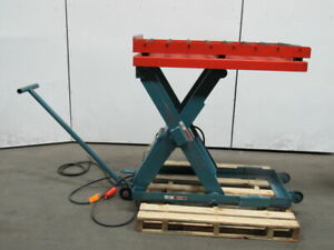 Advance Lp 2536 2500lb Hydraulic Scissor Roller Lift Table 24x48 6 1 2 47 1 2 H