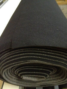 Auto Headliner Upholstery Fabric With Foam Backing 120 X 60 Black