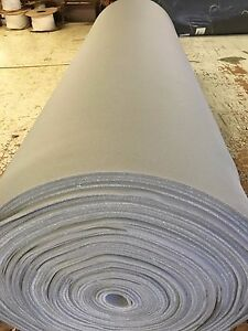 Auto Headliner Upholstery Fabric With Foam Backing 90 X 60 Medium Gray Knit