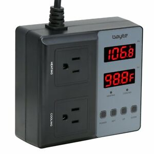 Temperature Controller Bayite Btc201 Pre wired Digital Outlet Thermostat 2