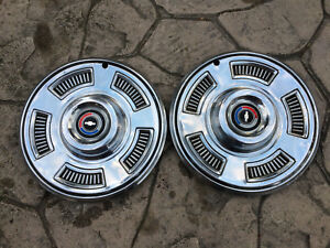 Pair Of Oem 14 Hubcaps Wheel Covers 1967 Chevy Chevelle