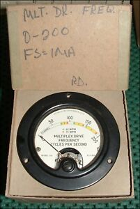 Vintage Weston Model 301 Multi drive Frequency Gauge New Old Stock In Box