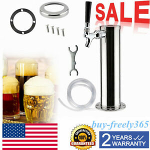 Single Tap Faucet Stainless Steel Draft Beer Keg Tap Tower Home Brew Kegerator