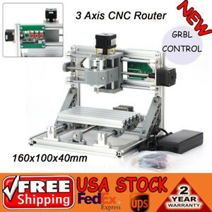 Mini Cnc 1610 500mw Laser Cnc Router Engraving Machine Pcb Milling Grbl Usb Port