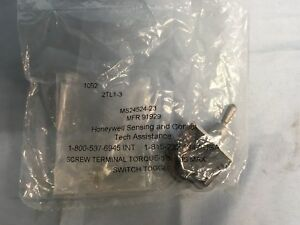 New Honeywell Ms24524 23 Mil spec Toggle Switch Dpdt 20a 2tl1 3 tl Series On on