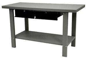 Homak 59 Industrial Gray Workbench 2 Drawer Gw00550170 New