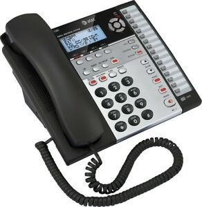 At t 1080 4 Line Corded Business Desk wall Phone W caller Id Answering Machine
