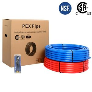 2 Rolls Of 3 4 Pex Pipe tubing 2x300ft Length red And Blue