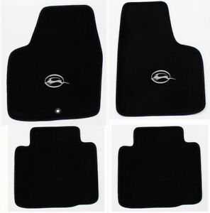 New Black Floor Mats 2006 2014 Chevy Impala Embroidered Running Logo Silver Set