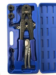 F1807 Pex Pipe Crimping Tool With 3 8 1 2 3 4 1 With Free Cutter