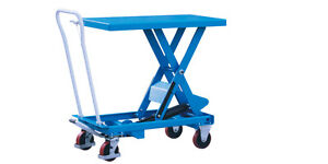 Hydraulic Scissor Lift Table Cart 660 Lbs Capacity Eoslift Ta30 Ch