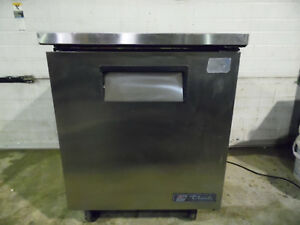 True Tuc 27 27 Under Counter Commercial Refrigerator Cooler Stainless On Wheels