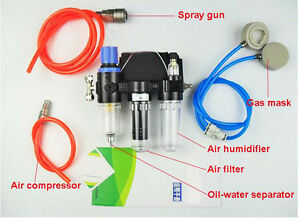 Chemical Supplied Air Fed Respirator System For 3m 6800 Serie Full Face Gas Mask