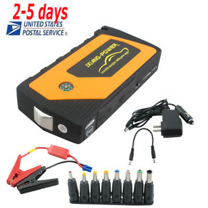 Portable Car Jump Starter Pack Booster Charger Battery Power Bank For Sos