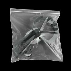 Mini Jewelry Ziplock Reclosable Plastic Poly Clear Bags 12 x12 2 Mil 3000 Pcs
