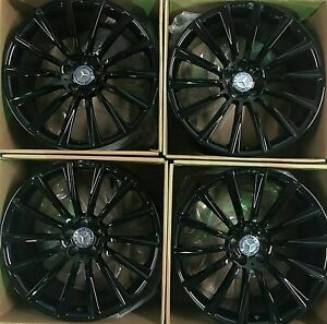 20 Oem Amg Cls550 S65 Cl63 Sl63 Glossy Black Forged 2018 Mercedes Wheels Set 4