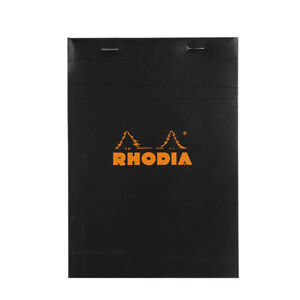 Rhodia 6 X8 Graph Notepad Black