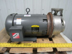 Goulds G l Series Ssh 10hp Stainless Steel Centrifugal Suction Pump 1x2