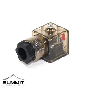 Din 43650 Type A Solenoid Connector W Led Indicator Light For Hydraulic Valves