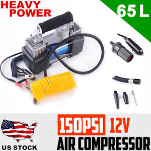 12v 150psi Portable Air Compressor Auto Car Tyre Deflator Tire Inflator Electric