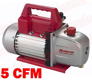 Electric Portable Robinair Vacuum Master 2 Stage 5 Cfm Vacuum Pump