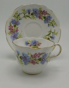 Rosina Wild Flowers Tea Cup And Saucer
