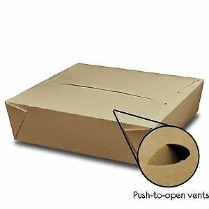 Take Out Containers Easy Fold Close Twin Lock Pack Of 60 Box 2 Kraft Paper X