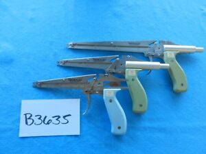 Weck Surgical Hemoclip Automatic Clip Appliers Lot Of 3