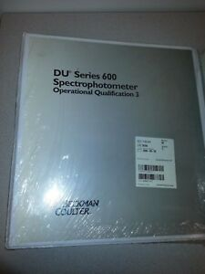 Beckman Coulter Du600 Series Operational Quaification Booklet