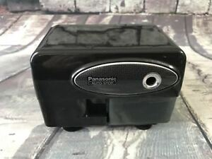 Panasonic Vtg Auto stop Electric Pencil Sharpener Kp 310 Black Desktop Working