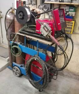 Lincoln Power Wave 355 Synergic Pulse Dual Feed Push pull Welder mig Tig Stick