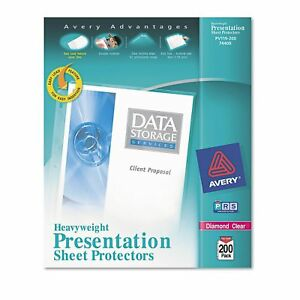 Avery Top load Poly Sheet Protectors Heavy Letter Diamond Clear 200ct