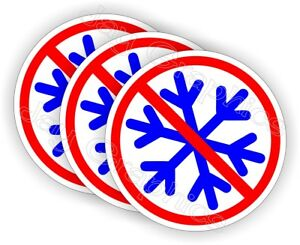 (3-pack) No Snowflakes Funny Hard Hat Stickers - Helmet Decals Trump Labels 2020