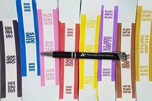 4000 Assorted Currency Straps bands By Mmf 8 Most Popular 500 Of Each