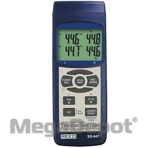 Reed Sd 947 nist Thermometer Thermocouple 4 channel Data Logger