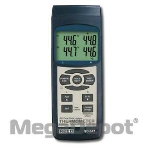 Reed Sd 947deluxe 4 channel Thermocouple Thermometer Data Logger Kit