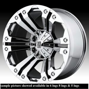 4 New 18 Wheels Rims Forchevey Avalanche 1500 Astro Van 6 Lug 25164