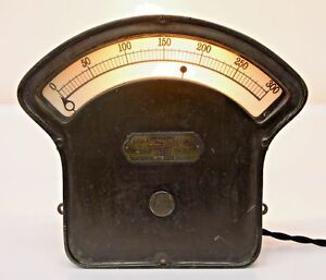 1900s Vintage Weston Lighted Meter Edison Western Electric Amplifier Steampunk