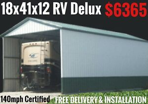 Rv Cover Metal Building Carport Barn Steel Garage Utility Shed Canopy